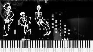 Spooky Scary Skeletons (Ragtime | LyricWulf Piano Tutorial on Synthesia)