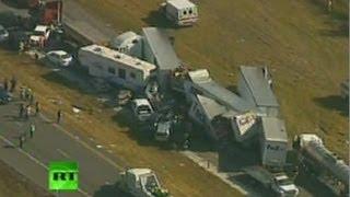 Крупное ДТП в США: на шоссе столкнулись 150 машин