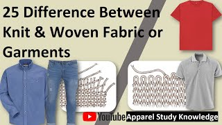 25 Difference between Knit & Woven Fabric or Garments