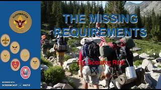 THE MISSING REQUIREMENTS 3   EAGLE SCOUT PROCESS