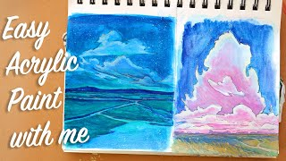 2 Easy Acrylic Paintings | Sketchbook Lesson