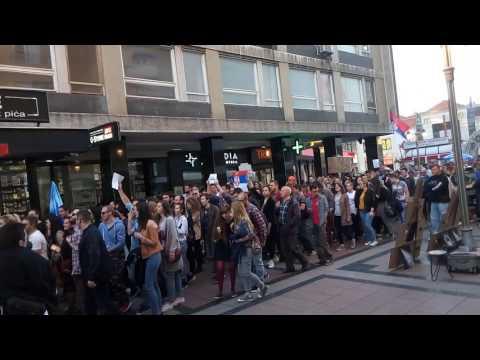 """Još jedan protest Nišlija, jer ne žele """"da im se otme budućnost"""""""