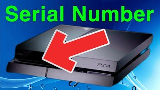 PS4 How To Find Your Serial Number!