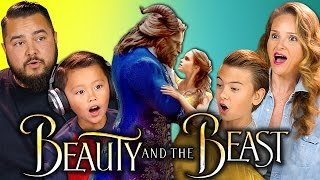 BEAUTY AND THE BEAST TRAILER REACTION   Kids & Parents React