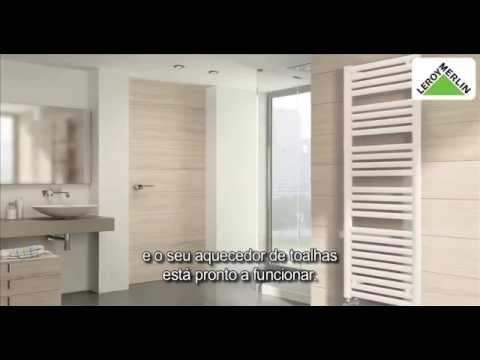 Como colocar um secador de toalhas a água quente | LEROY MERLIN