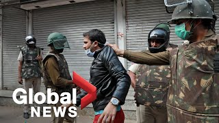 Coronavirus outbreak: Indian police break up citizenship protests as lockdown enforced