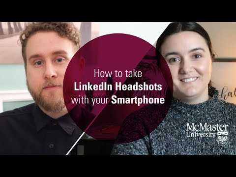 Watch Digital Skills Series: How to Take LinkedIn Head Shots with Your Smartphone on Youtube.