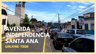 Walking Avenida Independencia in Santa Ana, El Salvador (2021) - METROCENTRO SANTA ANA