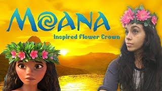 Moana Flower Crown Tutorial