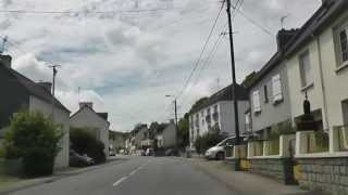 preview picture of video 'Driving On Rue Graveran & Rue de Kerlobret, Châteaulin,  Finistère, Brittany, France 27th May 2013'