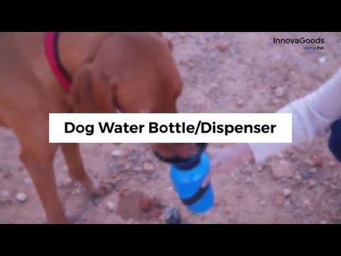 Dog water bottle-dispenser