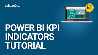 Power BI KPI Indicators Tutorial   Custom Visuals In Power BI   Power BI Training   Edureka