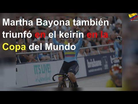 Martha Bayona tambien triunfo en el keirin en la Copa del Mundo