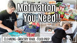 CLEAN WITH ME 2019 | GROCERY HAUL with PRICES | FOOD PREP & MEAL PLAN | SPEED CLEANING MOTIVATION