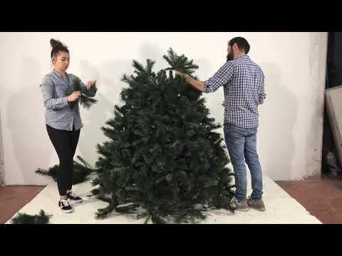Montaggio Albero di Natale Monte Rosa 210 cm