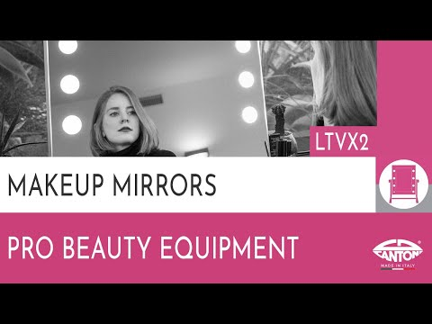 video LTVX2 Double fronted table-top mirror for makeup