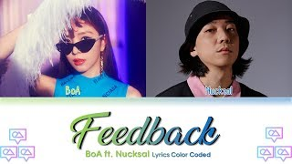 BoA   Feedback (Feat. Nucksal) Lyrics Color Coded (HanRomEng)