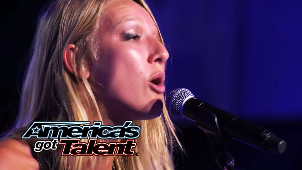 "Carly Jo Jackson: Spunky ""Somebody That I Used To Know"" Cover - America's Got Talent 2014 thumbnail"