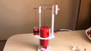 Stirling Engine (самодельный двигатель Стирлинга)