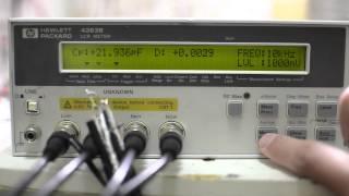 HP/Agilent 4263B LCR meter test