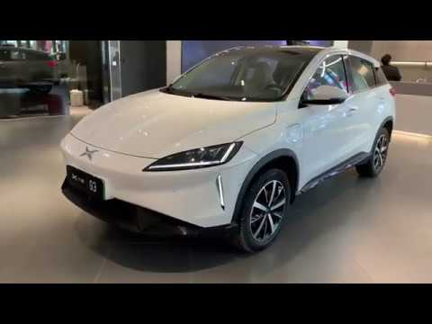 Chinese Tesla 2019 XPENG G3 by He Xiaopeng Showroom Walk Around