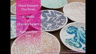 Hand Stamped Clay Bowls