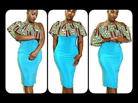 DIY MULTI WAY ANKARA RUFFLE TOP DRESS|BEGINNER SEWING