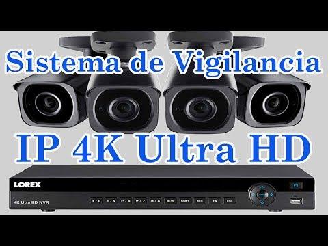 Sistema de Vigilancia NVR LOREX con 4 cámaras IP de 4K Disco 2TB Visión Nocturna Caracteristicas