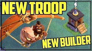 NEW Troop, NEW BUILDER! Clash Of Clans UPDATE Sneak Peek - Builder Hall 9!