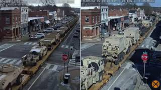 Not One, But Two, Military Trains through La Grange