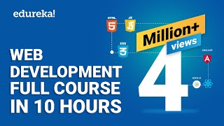 Web Development Full Course - 10 Hours | Learn Web Development from Scratch | Edureka