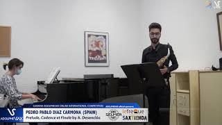 Pedro Pablo DIAZ CARMONA plays Prelude Cadence et Finale by A. Desenclos #adolphesax