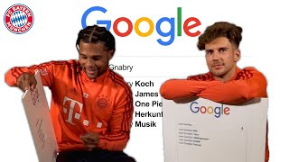 Why does Gnabry love One Piece? Google Autocomplete Challenge w/ Goretzka & Gnabry feat. Bellerín