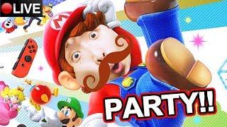 【Super Mario Party】鬥快痾夜尿!?見識真正的「手速王」啦!觀眾場+單人MARIO大富翁