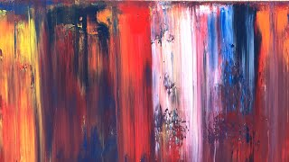 Streams Of Mercy Gerhard Richter Inspired Abstract Painting / Scraped Gloss Enamel