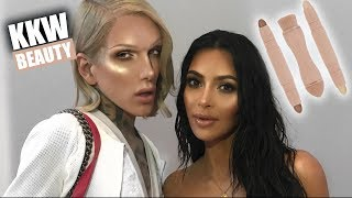 KIM KARDASHIAN: KKW CONTOUR + HIGHLIGHT KIT REVIEW | Jeffree Star