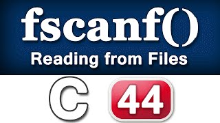 fscanf Function in C Programming Language Video Tutorial