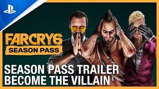PlayStation  Far Cry 6 - Become The Villain: Season Pass Trailer   PS5, PS4 anuncio