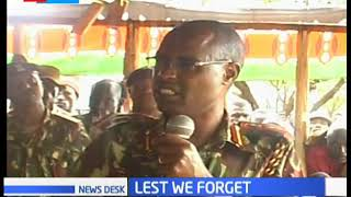Turkana hold memorial service for officers killed in 2011 in a cattle rustling mission