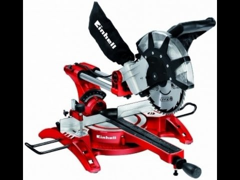 Торцовочная пила EINHELL TH SM 2534 dual обзор  Mitre saw EINHELL TH SM 2534 dual review