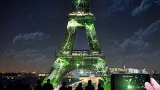 1 Heart 1 Tree, digital interactive artwork on the Eiffel Tower  virtual trees are planted in realit