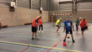 Eerste training walking handbal