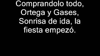 Divididos - Ortega Y Gases (Con Letra)