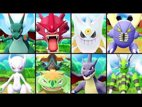 All SHINY Mega Evolutions in Pokémon Let's Go Pikachu & Eevee (видео)
