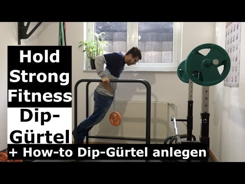 Hold Strong Fitness Dip-Gürtel Review Video + How-to Dip-Gürtel anlegen