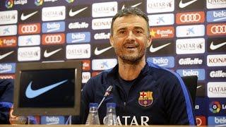 Rueda de prensa de Luis Enrique previa al Eibar - Barça
