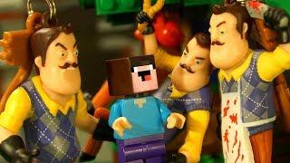 ПРИВЕТ СОСЕД в Майнкрафте - Игрушки vs Игра - Лего НУБик Мультики Балди - LEGO Minecraft