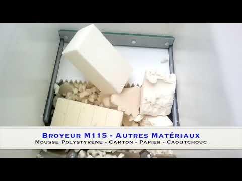Broyeur de déchets - Bois, Palettes, Caoutchouc, Carton, Papier, Mousse, Polystyrène...