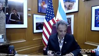 Mayor Lightfoot holds virtual meeting of the Chicago City Council including the 2021 Budget vote