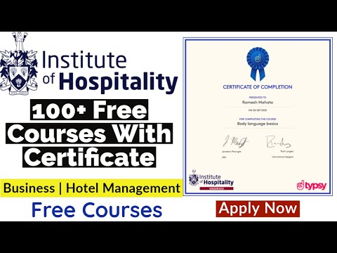 100+ Free Hospitality Courses Online With Certificate ... - YouTube